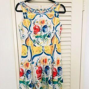 Floral dress majolica print size L